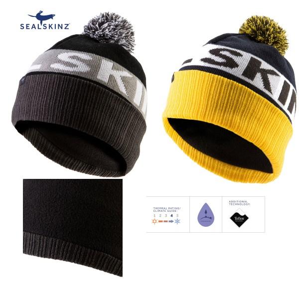 SEALSKINZ Water Repellent Bobble hat