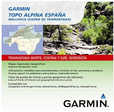 Topo Alpina Espana Mallorca (Tramuntana) microSD/SD